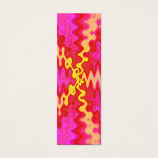 pink yellow bookmarks mini business card