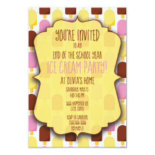 end of school year party invitations zazzle