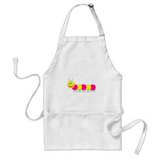pink yellow caterpillar adult apron