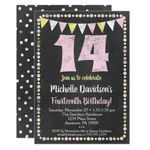 14th Birthday Invitations Zazzle