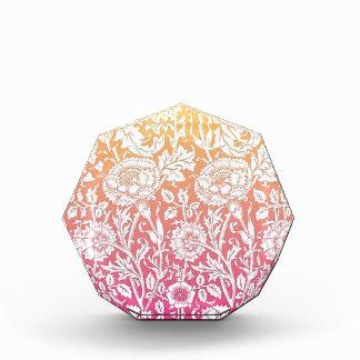 Pink & Yellow Contemporary Floral Pastel Design Acrylic Award