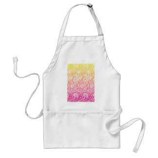Pink & Yellow Contemporary Floral Pastel Design Adult Apron