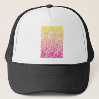 Pink & Yellow Contemporary Floral Pastel Design Trucker Hat