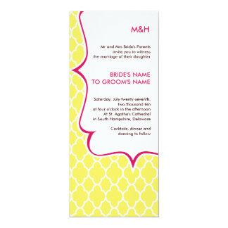 Pink & Yellow Curvy Invitations