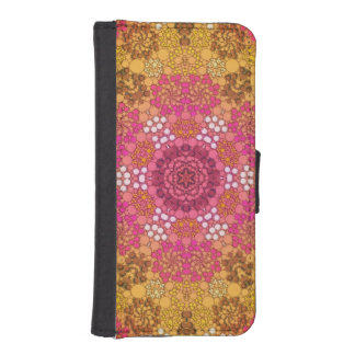 Pink Yellow Fancy Flower Abstract iPhone SE/5/5s Wallet