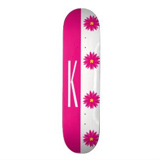 Pink & Yellow Flower Custom Skateboard