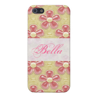 Pink & Yellow Flowers Custom iPhone Speck Case Covers For iPhone 5