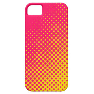 Pink & Yellow Fluorescent Dots iPhone 5 Case