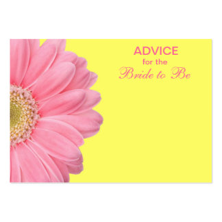 Pink & Yellow Gerber Daisy Advice for the Bride Business Card Template