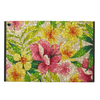 Pink & Yellow Glittery Flowers Powis iPad Air 2 Case