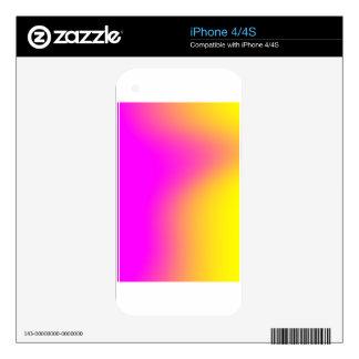 Pink Yellow Gradient iPhone 4S Skin