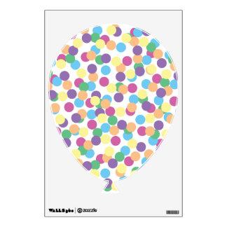Pink Yellow Green Blue & Purple Polka-Dots Balloon Wall Decal