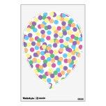 Pink Yellow Green Blue & Purple Polka-Dots Balloon Wall Skin