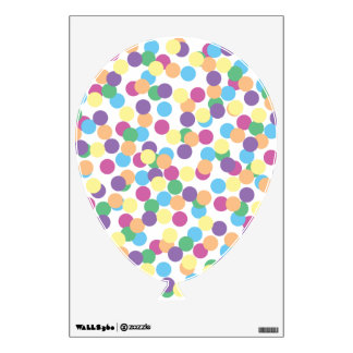 Pink Yellow Green Blue & Purple Polka-Dots Balloon Wall Skins