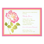 Pink, Yellow, Green, White Peony Bridal Shower 5x7 Paper Invitation Card