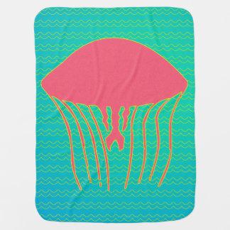 Pink & Yellow Jellyfish Baby Blanket