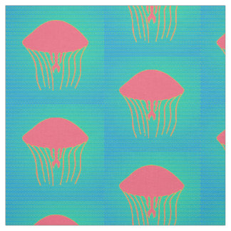 Pink & Yellow Jellyfish Fabric
