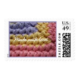 Pink, Yellow, Lavender Crochet Stamps