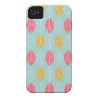 Pink & Yellow Leaves Case Mate  iPhone 4 Case
