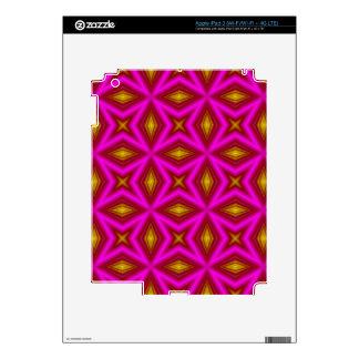 Pink yellow line pattern iPad 3 skins