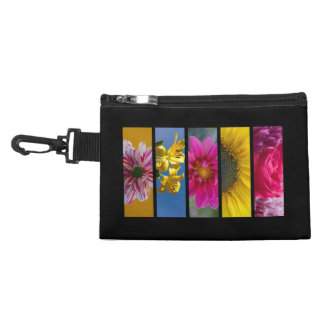 Pink & Yellow Macro Flowers Accessory Bag