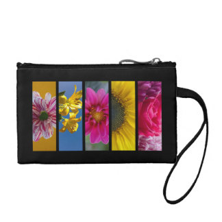 Pink & Yellow Macro Flowers Coin Wallet