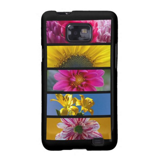 Pink & Yellow Macro Flowers Samsung Galaxy SII Cover