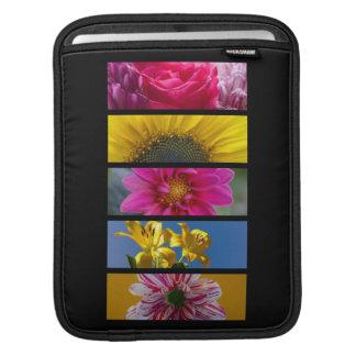 Pink & Yellow Macro Flowers Sleeve For iPads