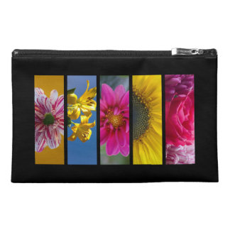 Pink & Yellow Macro Flowers Travel Accessory Bags
