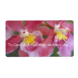 Pink & Yellow Orchids Label
