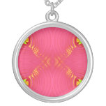 pink yellow personalized necklace
