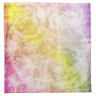 Pink, Yellow, Purple Tie Dye Batik Napkin