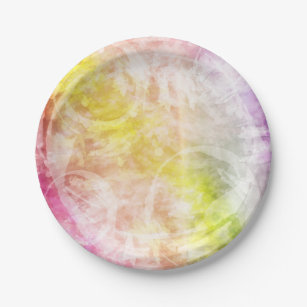 Pink Yellow Purple Tie Dye Batik Paper Plate  sc 1 st  Zazzle & Pink Tie Dye Plates | Zazzle