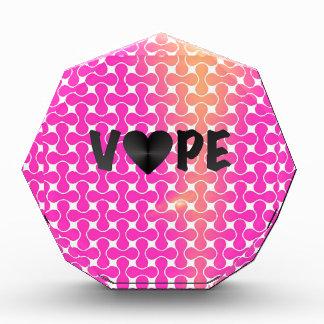 Pink Yellow Retro Vape Heart Award