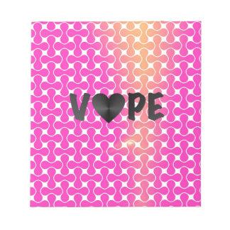 Pink Yellow Retro Vape Heart Note Pad