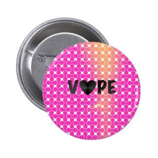 Pink Yellow Retro Vape Heart Pinback Button