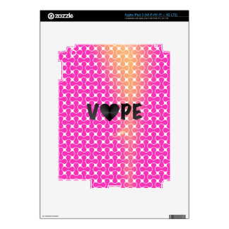 Pink Yellow Retro Vape Heart Skins For iPad 3