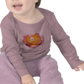Pink & Yellow Rose for Baby Shirts