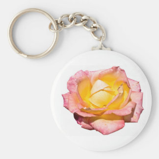 Pink & Yellow Rose Keychain