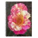 Pink Yellow Roses Photo Notebook Note Book