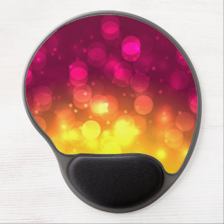 Pink & Yellow Sparkles Light Design Gel Mouse Pad