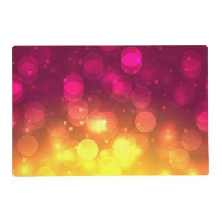 Pink & Yellow Sparkles Light Design Placemat