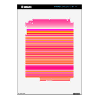 Pink Yellow Stripes Decals For iPad 3