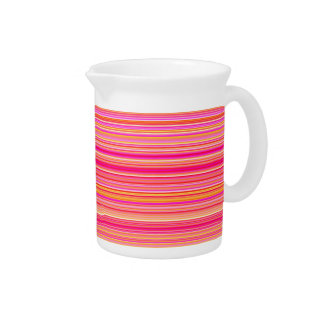 Pink Yellow Stripes Drink Pitchers