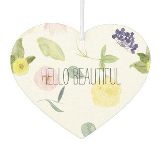 Pink Yellow Watercolor Floral Air Freshener