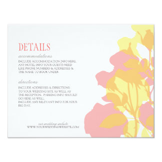 Pink & Yellow Watercolor Floral Details Card