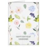 Pink Yellow Watercolor Personalized Floral Greeting Card