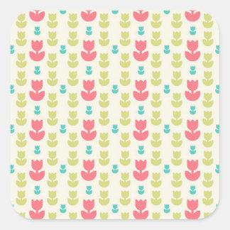 Pink Yellow White Daisy Pattern Sticker