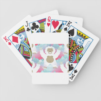 pink yeti bicycle playing cards