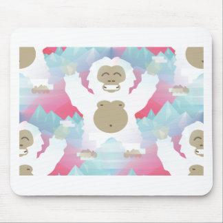 pink yeti mouse pad